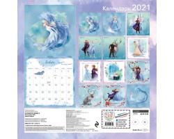 Холодное сердце 2. Календарь 2021. Анна и Эльза