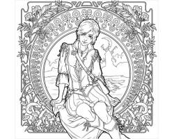 Ведьмак – Раскраска для взрослых