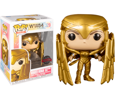Чудо-женщина в золотой броне со щитом (Эксклюзив) из фильма Чудо-женщина: 1984
