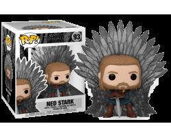 Нед Старк на троне из сериала Игра Престолов