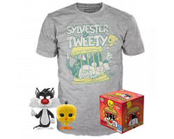 Набор Фигурка+Футболка Funko POP and Tee: Looney Tunes: Sylvester & Tweety