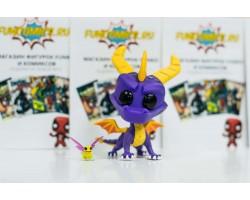Спайро и Спаркс из игры Spyro the Dragon