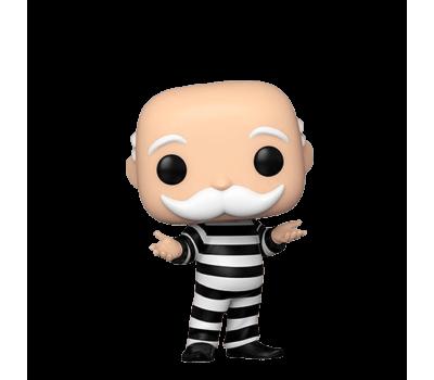 Дядя Толстосум в тюремной робе из игры Монополия