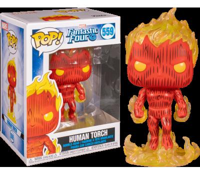 Человек-факел из комиксов Фантастическая четвёрка