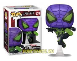 Майлз Моралес в костюме Фиолетовое Царство из игры Человек-паук: Майлз Моралес
