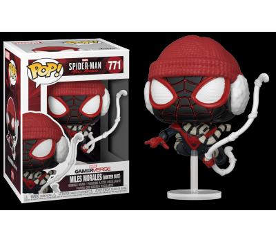 Майлз Моралес в зимнем костюме из игры Человек-паук: Майлз Моралес