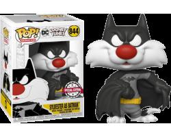 Кот Сильвестр в костюме Бэтмена из мультфильма Looney Tunes