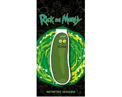 Фигурная магнитная закладка. Огурчик Рик из мультфильма Рик и Морти