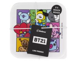 Набор контейнеров для продуктов BT21 Set Of 3 Snack Boxes