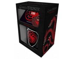 Подарочный набор Игра Престолов - Таргариены (кружка, подставка, брелок)