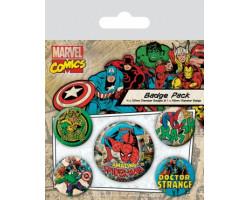 Набор значков Марвел ретро (Человек-Паук)