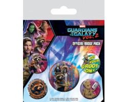 Набор значков Стражи Галактики 2 (Ракета и Грут)