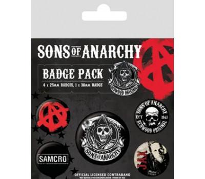 Набор значков Сыны анархии