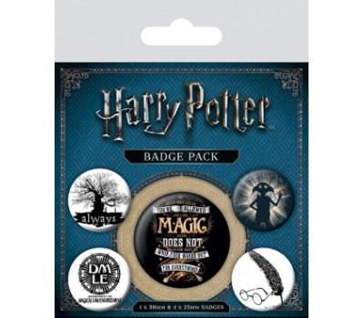Набор значков Гарри Поттер (Символы)